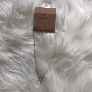 New Brandy Melville Gold Double Circle Necklace